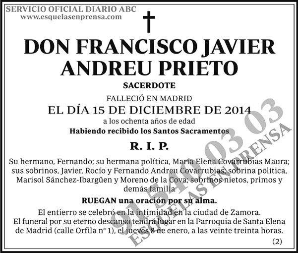 Francisco Javier Andreu Prieto